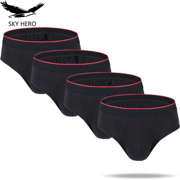 4pcs/lot Men Briefs Underwear Convex Pouch Panties Sexy Mens Brief Jockstrap Hot Cotton Low Rise Short Underpants U Men's Slips Y19042302