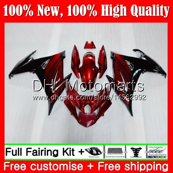 Body For YAMAHA FZ6N FZ6 R FZ6R 09 10 11 12 13 14 15 Dark red black 94MT5 FZ-6R FZ 6R 2009 2010 2011 2012 2013 2014 2015 Fairing Bodywork