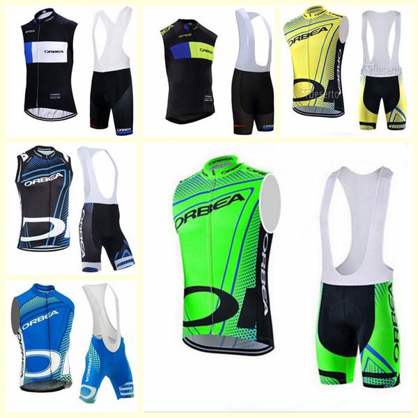 Orbea ciclismo senza maniche maglia Vest pettorina brevi set estiva da uomo 3D gel pad vestiti della bicicletta traspirante Sportswear U120607