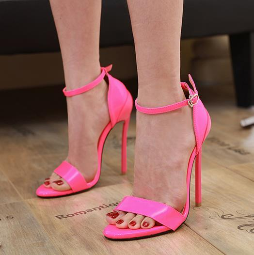 top popular Plus size 35 to 40 41 42 luxury women designer shoes 9 candy colors bride shoes high heel Come With Box 2020