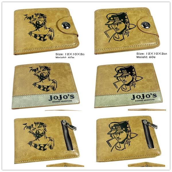 Jojo Bizzare Adventure Golden Wind Leather Pu Wallet Jojos Coin Zipper Purse Card Holder Money Bag Costume Cosplay Gift