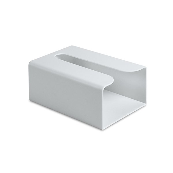 Dust Resistance Easy Install Wall-mounted Non-porous Eco Friendly Square Storage Household Office Paper ABS Tissue Box Solid