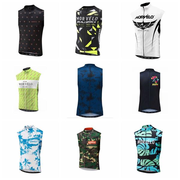 equipe Morvelo Ciclismo mangas camisa Vest Homens Coletes sem mangas respirável Quick Dry MTB Estrada da bicicleta Jersey Ciclo Roupa S123105