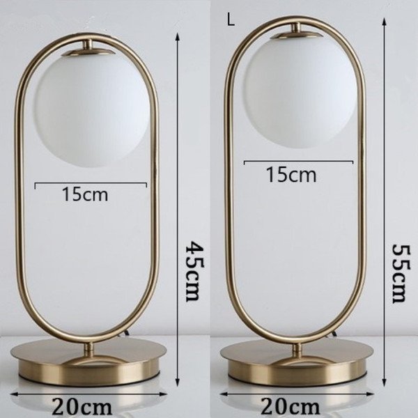 Nordic Lâmpada de Mesa Moderna Minimalista de Ferro Levou Lâmpada de Mesa de Vidro Lampara Led Escritorio Quarto Lâmpada de Cabeceira Casa Deco Luminária