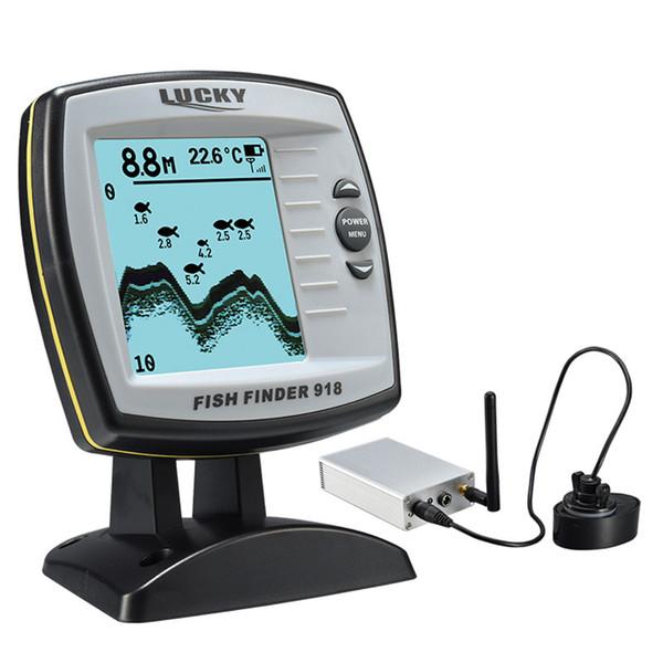 FORTUNATO Fish Finder FF918-180S Sensore trasduttore cablato Fishfinder 45 gradi Eco Eco Localizzatore di pesce Rivelatore fishfinder per barche