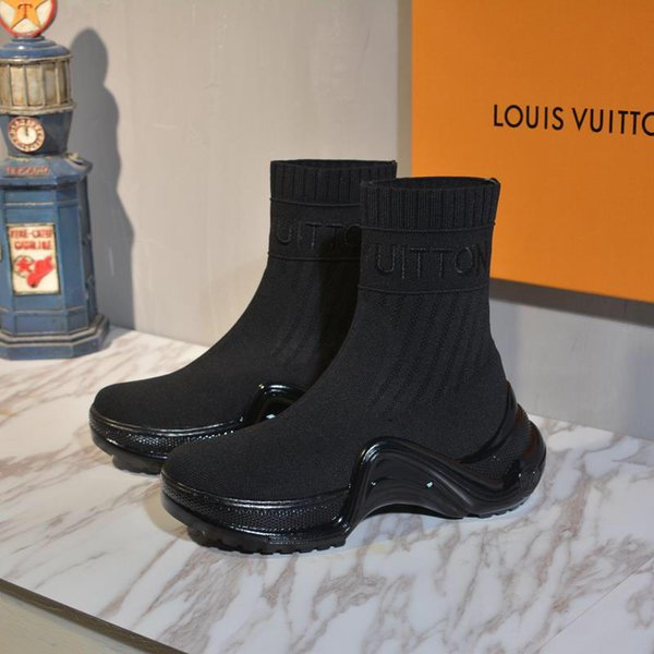 di 2019ss donne di lusso calde del progettista di quattro stagioni importato di prima scelta volanti tomaie intrecciate Calze Scarpe calze stivali da donna