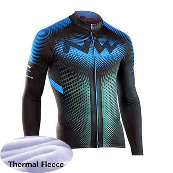 New Northwave Team Bike Jersey Cycling shirt Men NW Winter thermal fleece long sleeve racing tops bicycle uniform outdoor sportswear Y091601
