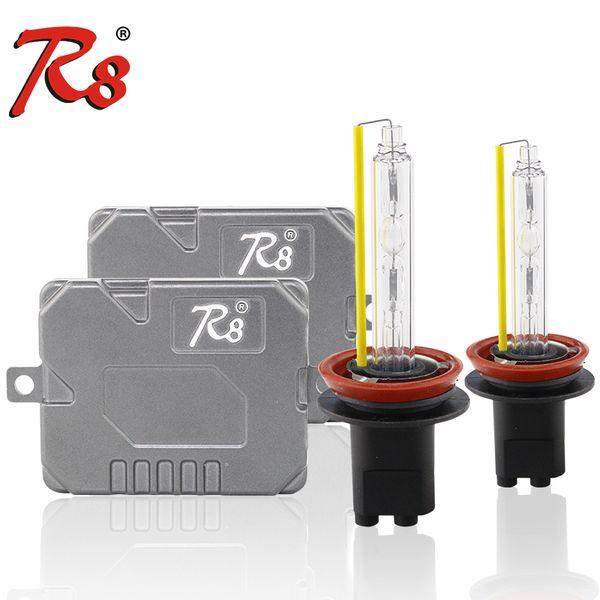 R8 Fast Quick Start Slim 55W Ballast HID Xenon Light Kits 880 H1 H3 H7 H11  H8 9005 9006 9012 D2H High Lumen Lamps 5500K Xenon Hid Lights Xenon Hid