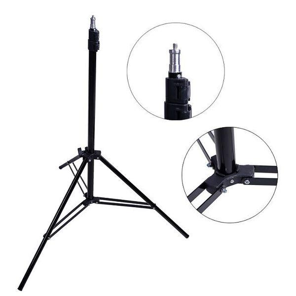 Fotoğraf Ayarlanabilir 2m Işık Şemsiye 1/4 vida kafası Fotoğraf Stüdyosu Flaş Sürekli tripod ile Standı