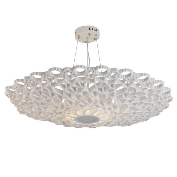Modern Petek LED Işık Kolye Beyaz Reçine Openwork Çiçek Ev Dekorasyonu Salon Tavan Lamba Armatür PA0157