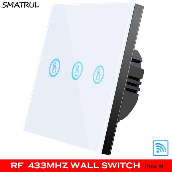 흰색 RF 3 갱 WALL