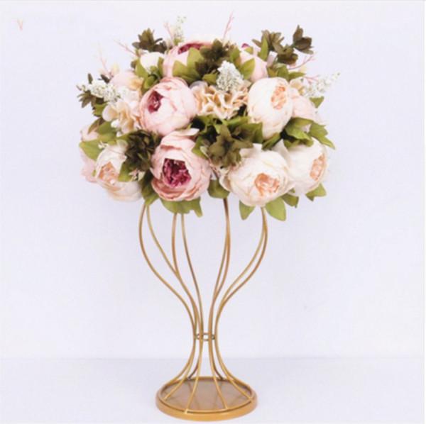 Personalizar 35cm piezas centrales de bolas de flores artificiales + 1m peonías bouqet de flores mesa de arco de la boda decoración fila flor de suministro arranment