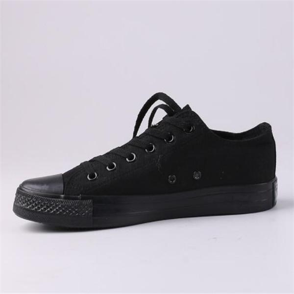 2-All Black Low Top