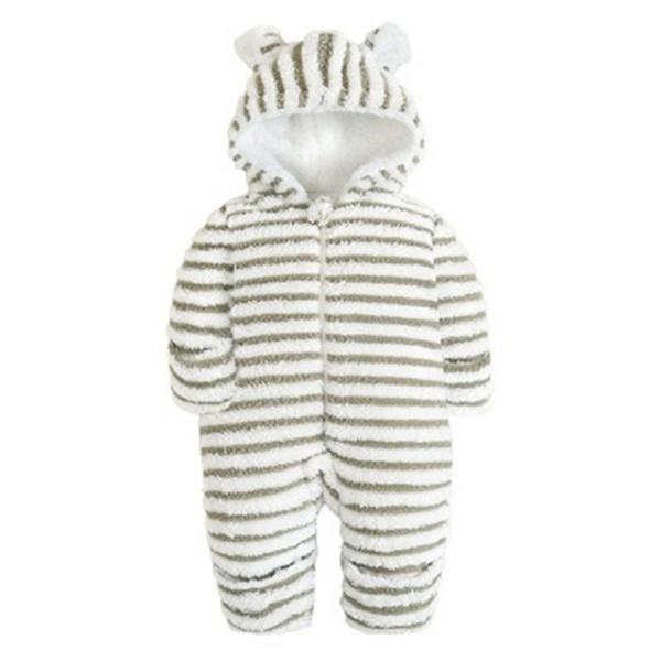 Neugeborene Jumpsuits Spielanzug-Winter Baumwolle Wolle Cartoon Fleece-Kostüm-Baby-Kleidung gebürstet Overall Winter-Longsleeve Baby-Spielanzug-Overall Warm