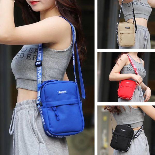 Women men Fanny Pack NYLON Crossbody Bags Supre Letters Sports Beach Shoulder Bag Belt Messenger Bags Duffle Handbags Solid Color C62606