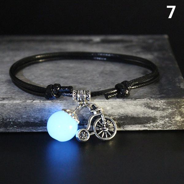 Cordone luminoso Sfera di pietra cavigliera incandescenza nello scuro Note ali di arachidi Ciondolo Decor B88