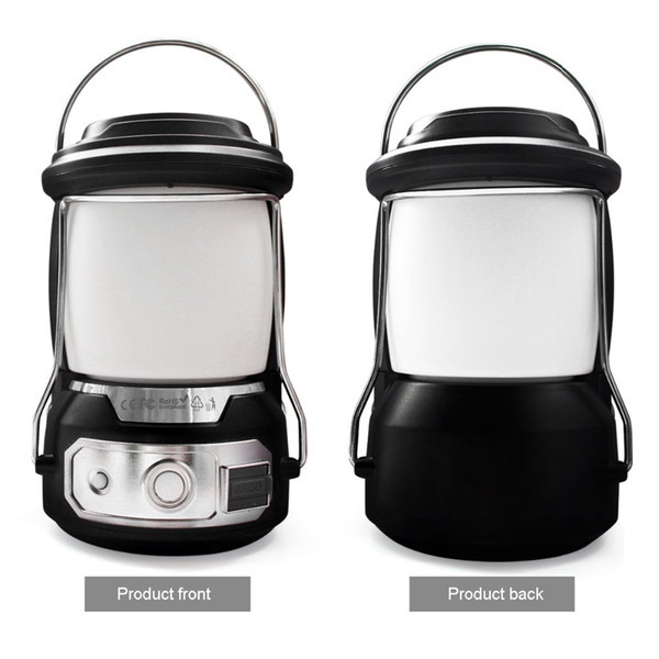 Outdoor lantern LED camping lamp portable emergency lighting USB rechargeable battery dual-purpose tent Work light