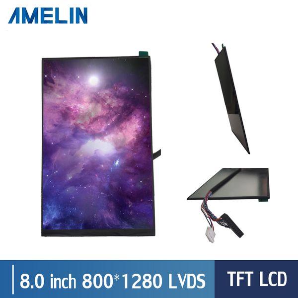 8 pollici 800 * 1280 ad alta risoluzione con LVDS 100% nuovi displayIPS LCD TFT LCD