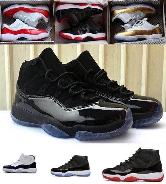 Concord 45 zapatos de vestido de los hombres del casquillo de baloncesto 11s Plataforma Tinte Rojo Gimnasio Bred Barons Espacio 11 se divierte para hombre zapatillas de deporte de diseño