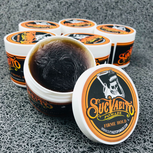 top popular Suavecito Pomade Strong Style Restoring Pomade Hair Wax Skeleton Slicked Hair Oil Wax Mud Keep Hair Pomade Men 2021
