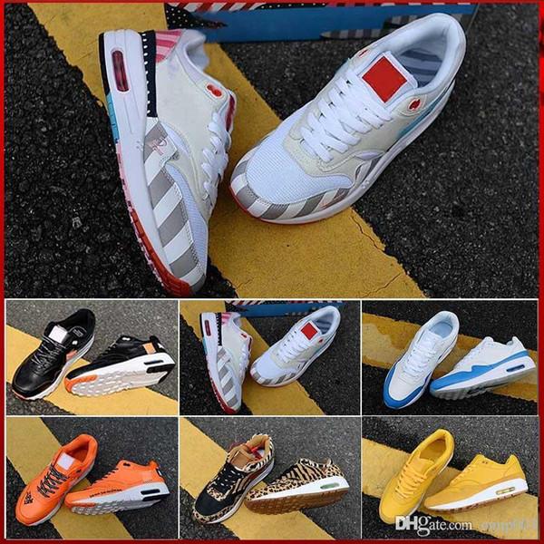 nike air max 87 airmax og Anniversary 1 OG Zapatos para correr zapatillas de deporte de alta calidad zapatillas deportivas tamaño 36-45 envío gratis con caja