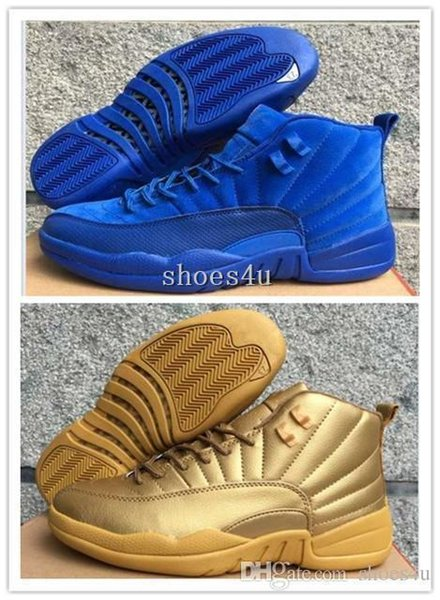 Hot Cheap New New 12 XII Premium Deep Royal Blue Red Suede Men s Basketball Shoes Sneakers Women dan 12s shoe US 5.5-13