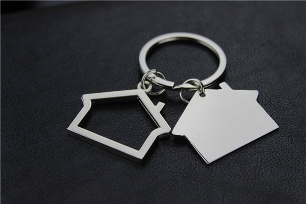 best selling Metal House Shaped Keychains Keyrings house Design car Key Chain Custom LOGO Gifts for Promotion free shipping