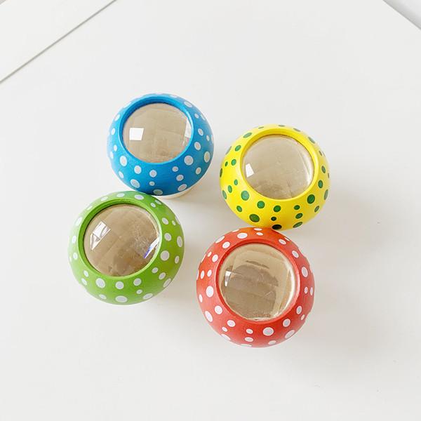 Novelty Cute Mushroom Shape wooden Kaleidoscope Prism Children Outdoors Observe New View tools Kids Popular Toys