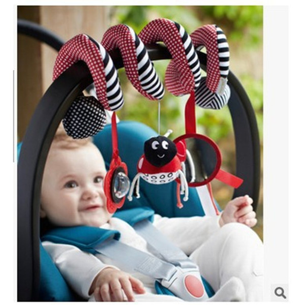 Infant Baby Toys Multi-function Car Lathe Around The Baby Bed Bells Ringing Bed Stroller Hanging Rattles Mobile