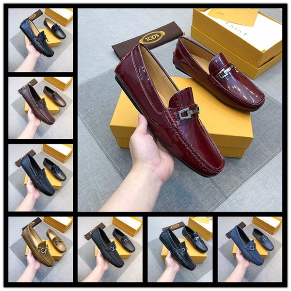 2019 Newest Handmade Men's Loafer Genuine Leather Custom Business Dress Shoes Fashion Wedding Party Casual Flat Shoes Buckle Design