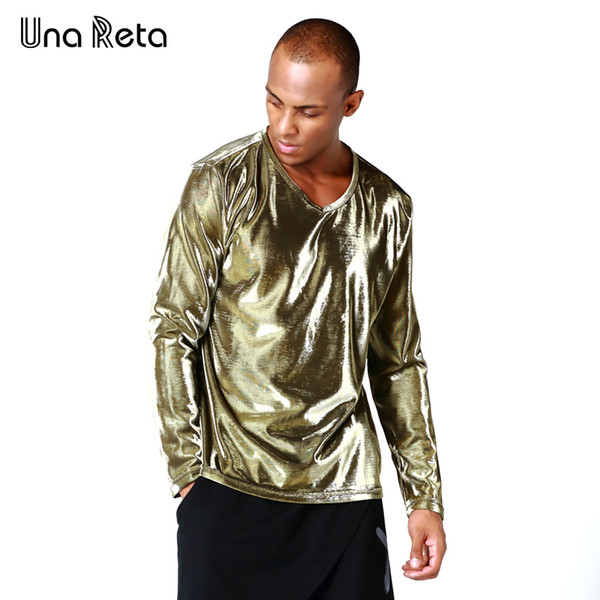 Una Reta Hot Sale Men T shirt Fashion Long Sleeve v neck Mens T-shirt Cotton Tees Tops Brand Plus size Hip hop Sweatshirts
