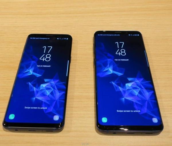Full Curved Screen Goophone 9 Plus 9+ Fingerprint Android 7.1 1GB/16GB Show fake 4GB RAM 128GB ROM Fake 4G LTE Unlocked smartphone DHL Free