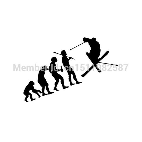 HotMeiNi Großhandel 20 teile / los Evolution Mann Skifahrer Lustig Für Autofenster Truck JDM Euro Vag Auto SUV Laptop Vinyl Aufkleber Coole Aufkleber