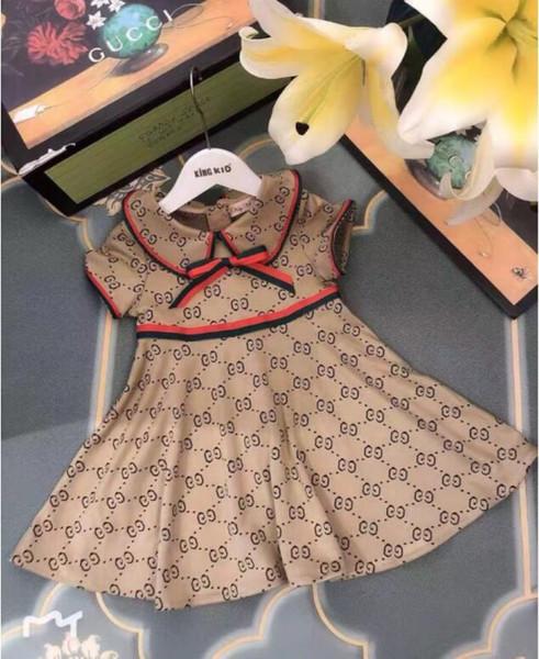 Summer Girls Fashion Letter Dress Brand Designer G Printed Dress Birthday Party Dress Casual Short Sleeve T-Shirt