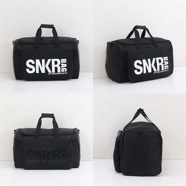 Multifunction Sneakers Storage Bag Outdoor Camping Handbag Travel Duffle Bags Water Proofing Foldable Black Nylon Material bag ZZA218
