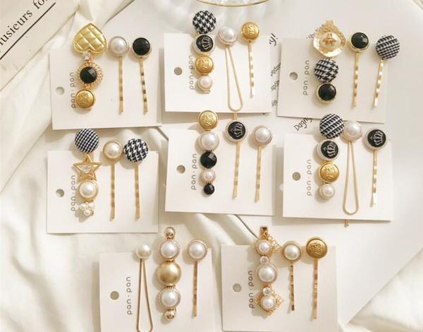 Pearl Crown hair clip gold/silver colors simple hair pin sea star hair jewelry star clip accessories