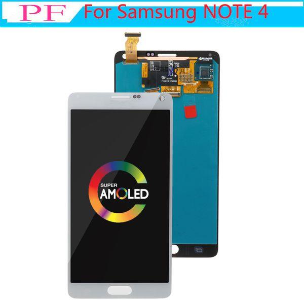 Yeni orijinal samsung galaxy note 4 için orijinal 5.7 amoled ekran not4 n910 dokunmatik ekran digitizer meclisi n910a n910f n9100