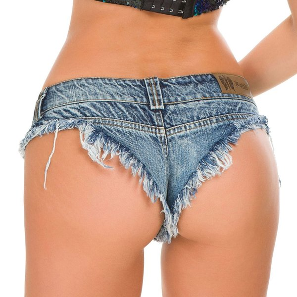 Women Sexy Shorts Denim Jeans Shorts Low Waist Stretch Mini Super Summer Booty feminino Pole Dance Clubwear 5 Colors