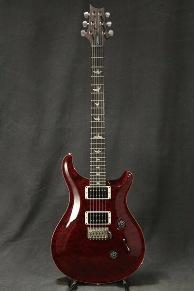 best selling Custom 24 1Library 10 Top Quilt Top Pattern Regular Black Cherry Electric Guitar Quilted Maple Signature 24 frets China made Guitars