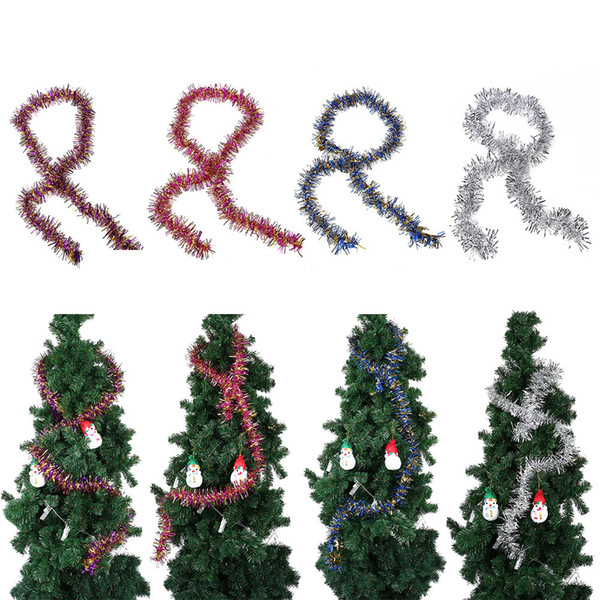 Christmas Tree Tinsel Garland Hanging String Xmas Party Home Family Decor 190CM