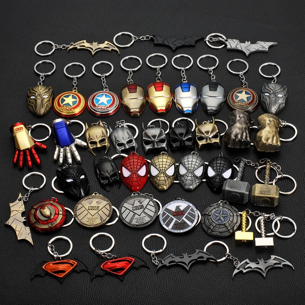 Metal key chain avengers peripheral movies for lovers as gifts, Marvel resurrection for creative key chain to use