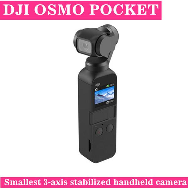 DJI Akıllı OSMO Cep Mini Taşınabilir 3-axis Gimbal Sabitleyici El Kamera 4 K Video iPhone Android için 3x3 Panorama Uzun Bekleme