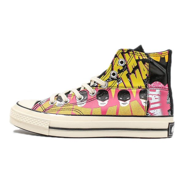 DC Superhero X Covase Bat man Casual Shoes Limited 80th Anniversary Canvas Shoesl Designer Shoe Man Woman Fashion Street Sneaker c16