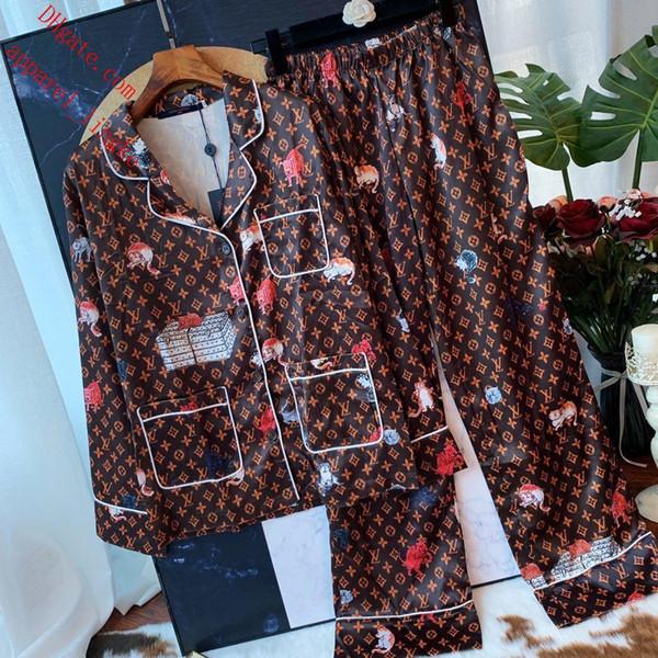 женщины из двух частей наряды женщины спортивный костюм печатных костюм с длинным рукавом футболка + высокая талия резинка широкие брюки женская одежда TS-13