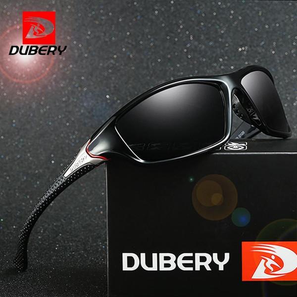 DUBERY óculos de sol dos homens de condução polarizada Night Vision óculos de sol para homens Praça Esporte Marca de luxo Espelho Shades Oculos D-120