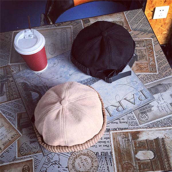 Senhora Unisex Moda Feminina Retro Inverno Quente Faux Fur Chapéu De Marinheiro Beanie Cap Hat Malha popular Sólida Casual # 4F19