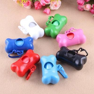 Pet Dog Bone Style Case for Poop Waste Bags Bone Dispenser Pet Products Free Shipping