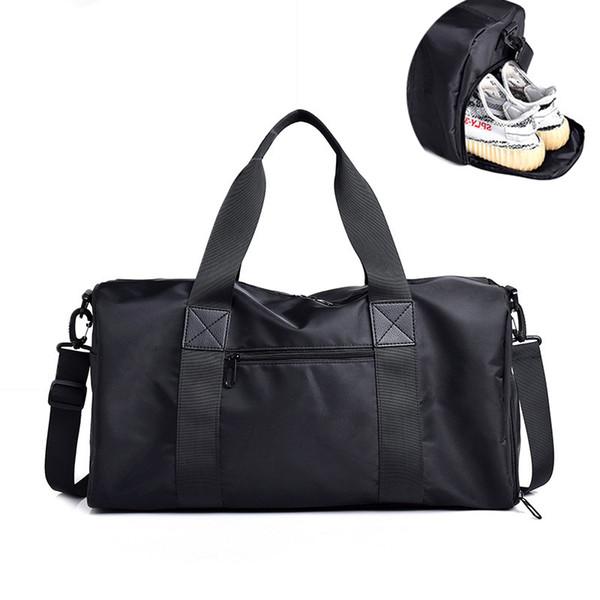 Black Gym Bag Men Sport Fitness Bag Men Gym Sports Training Women Outdoor Travel Handbags Women yoga Shoulder Sac
