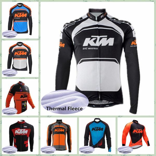 2019 KTM Team Radfahren Winter Thermal Fleece Trikot Günstige maßgeschneiderte 100% Polyester Frühling und Herbst Ropa De Ciclismo Günstige Neu kommen W30