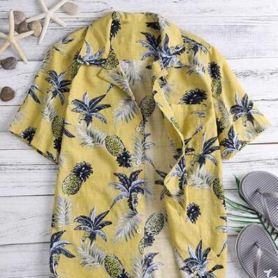 Mens Summer Shirt Style hawaïen Casual Shirt 2019 Nouveau style de mode Summer Beach Shirt avec 3 couleurs